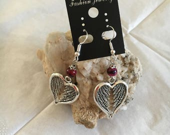 pretty heart and Pearl Earrings