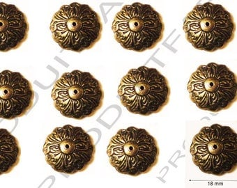 Chest jewelry trunk drawer Decoration Clouer set of 12-18 mm Metal casket box