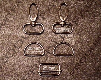 Set of necessary straps chrome ring carabiner passing tote for 30 MM