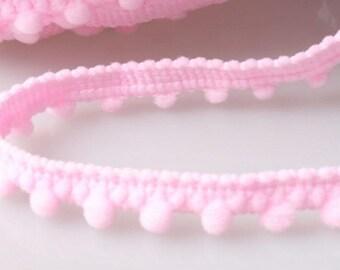 Ribbon braid tassels 6 mm baby pink