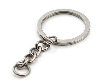 Keychain, silver chain 6 cm