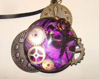 Purple Steampunk Necklace