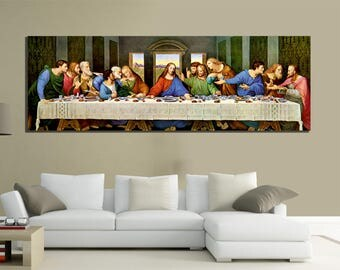 modern paintings canvas 150x50 art last supper da vinci furniture home home
