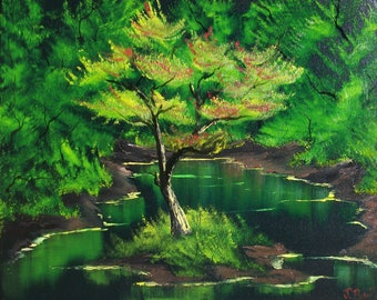 Oil on Canvas- Tree in Swamp