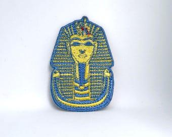 635# King Tut Tutankhamun Embroidered Iron on or sew on Patch