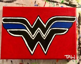 Wonder Woman Thin Blue Line