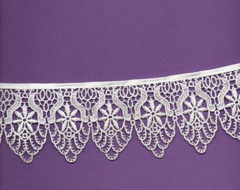 White polyester lace 7cm wide