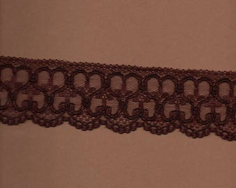 Special lingerie Brown lace (stranded 300) 6cm wide