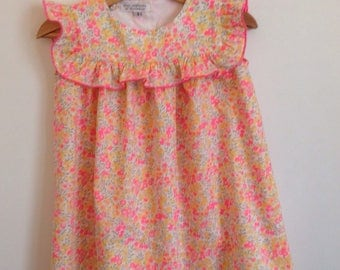 Dress in liberty Wiltshire lemon curd