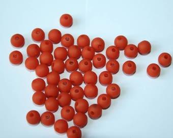 Beads plastic Orange 14 g 5 mm