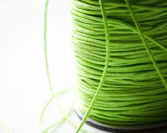Wire Nylon braided Green 1.5 mm x 1 meter