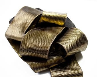 Copper 8 cm x 50 cm diamond pattern Ribbon