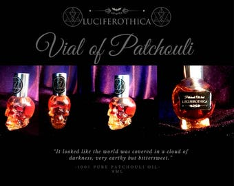 Patchouli skull - patchouli fragrance  lucifer occult boho gothic essence witch  india etnic