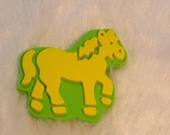 tampon pour peinture  représentant un cheval
