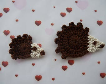 hedgehog - crochet applique