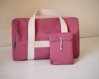 bag in soft vinyl rosewood for the nursery, little weekend shopping or sport