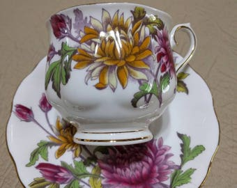 Royal Albert Flower of the Month Teacup and Saucer - November