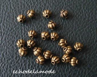 1 set of 20 bronze 6 mm beads