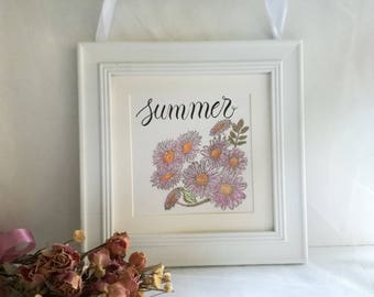 """Summer"", great wall white frame"