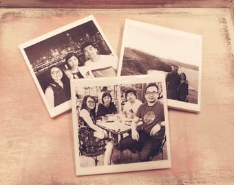 Photo Tile Coasters with Cork Backing