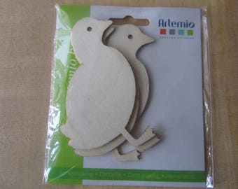 Set of 3 charming little ducks wood (medium) blank