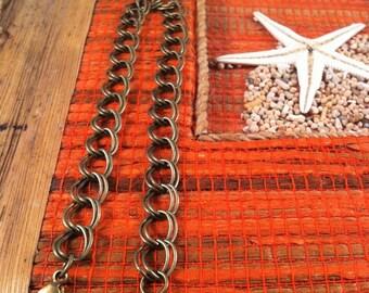3 bracelets double mesh of 21 cm long, lobster clasp