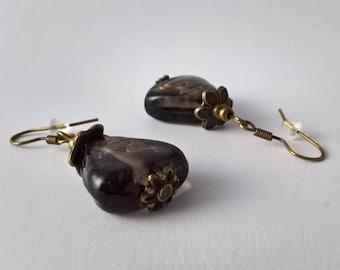 Earrings & triangle beads