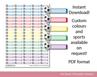 Printable Football/Soccer Planner Stickers