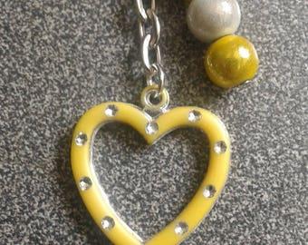 PROMO * bags yellow heart jewel
