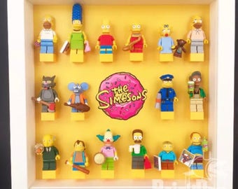 Lego Simpsons Minifigure Display Frame Black or White Gift 71005 71009