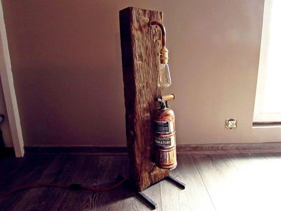 Lampe design à poser style industriel / déco loft esprit recup