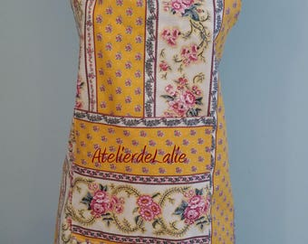 Cloth induced provencal pattern apron: adult size