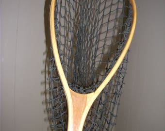 Vintage Laminated Wood Fish Landing Net