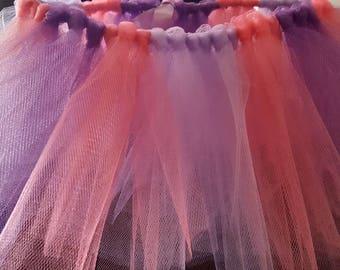 Purple and Coral Tutu 2-5yr