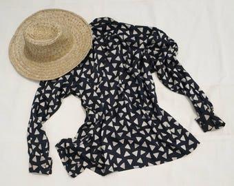 Vintage Silk Jabé Top