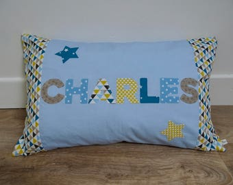 "Pillows with custom ""Charles"""