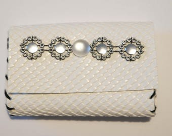 Faux leather - stylish Python wallet