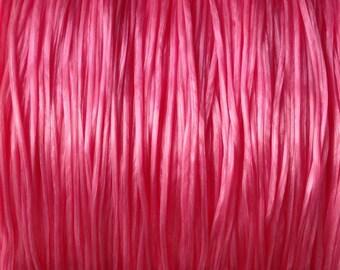 LOT 20 m wire SPER 0.8 elastic / 1 mm pink look Pearl multi-fiber 20 m/9