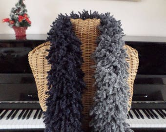 original scarf in shades of blue, purple and grey
