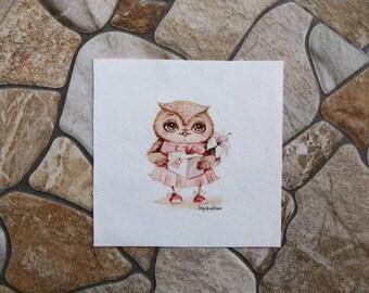 Patchwork Owl dancer fabric coupon