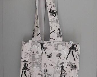 """tote bag lined """"paris"""""""