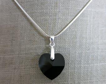 """Black heart"" pendant"