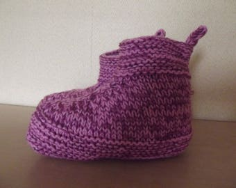 knitted baby shoes hand size 37/38