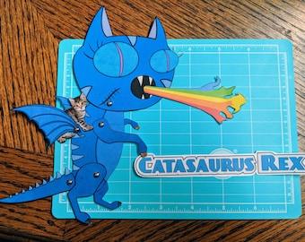 Catasaurus Rex - Articulated Paper doll
