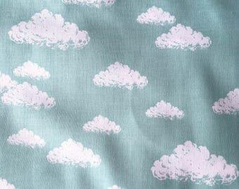 COUPON 1.85 m-50% Poplin cotton Japanese quality - mint cloud