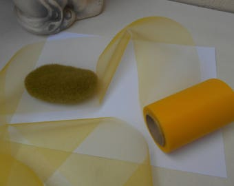 Yellow tulle of very high quality - sold by the yard