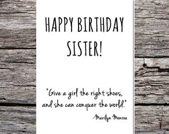 inspirational funny birthday card happy birthday sister marilyn monroe quote #3