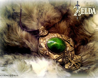 Jewelry: Necklace, Zelda inspired - Cosplay-polymer clay pendant-
