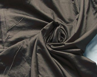 Coupon of 2.80 meters fine grey/taupe silk crepe