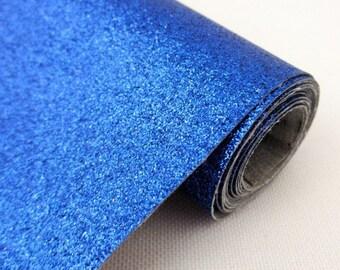 Tissu micro paillettes,  glitter coloris bleu 30/25cm, à coudre pour customisation, couture et DIY , lavable